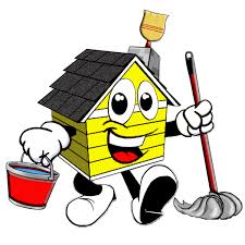 house cleaning professional cartoon house cleaning logos