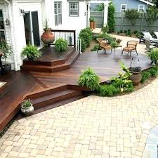 Backyard Deck Design Ideas Backyard Deck Plans Ground Level Deck Ideas Backyard Deck Designs