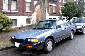 old honda accord old parked cars vancouver accord