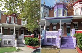 painted purple in charles village strong city baltimore