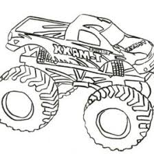 free coloring page monster truck archives mente beta most