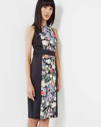 kensington floral bodycon dress black dresses ted baker uk