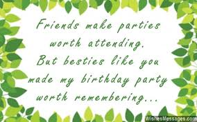 thank you messages for coming to a birthday quotes and