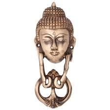 Decorative Buddha Head Knocker In Pure Brass For Main Door Buddha Head Design Fully