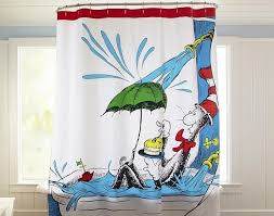 Ebay Pottery Barn Curtains Funny Shower Curtain Via Pottery Barn With Dr Seuss Print And