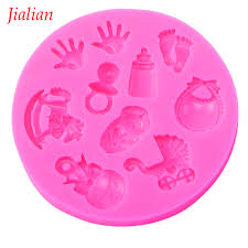 popular mold shower buy cheap mold shower lots from china mold jialian baby shower party stroller hand bottle trojan silicone mold chocolate fondant cake decoration baking utensils
