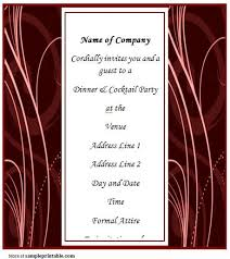 business dinner invitation templates