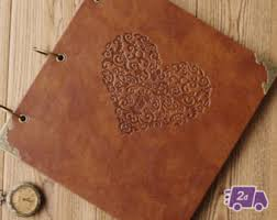 leather scrapbooks leather scrapbook etsy