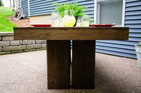 Build Wooden Patio Table by Ana White Modern Outdoor Patio Table Diy Projects