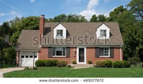 cap code house brick cape cod house stock photo 485077672 shutterstock