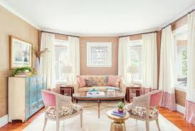 5 stunning pastel rooms decorating with pantone 2016 color how to decorate feminine rose quartz peach nude pink pastel living room dining room grasscloth stripe