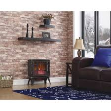 pleasant hearth 20 in electric fireplace logs l 24 the home depot