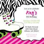 free printable roller skating birthday party invitations free