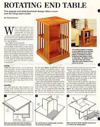 rotating bookshelf plans u2022 woodarchivist