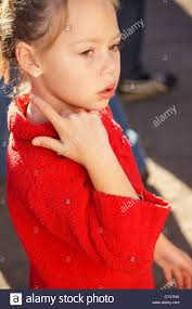 cute tween young blonde girl child kid side profile portrait
