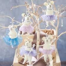 sugarplum ballerina mice ornaments olive cocoa