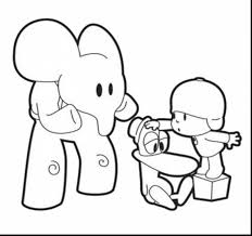 fantastic printable coloring pages cool pocoyo with pocoyo