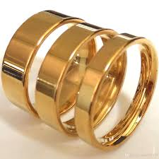 gold bands rings images Wholesale mix gold 4mm 6mm 8mm band rings fine polishing men 39 s jpg