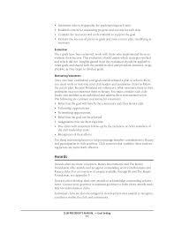 Critical Care Nurse Job Description Resume by Rotary Club President U0027s Manual