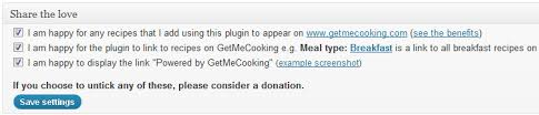 information on the recipe template plugin for wordpress getmecooking