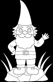 colorable garden gnome free clip art