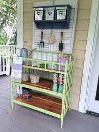 Inexpensive Potting Bench by From Baby Changing Table To Potting Bench Garden Decor
