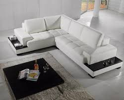 Modern Sectional Leather Sofas Modern Sectional Sofa In White Bonded Leather Modern Living