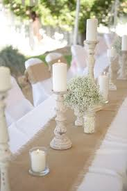 candle runners 55 chic rustic burlap and lace wedding ideas rustic candle