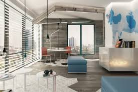 living room white loft style for harmonious white sofa and round