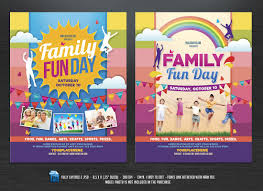 graphic design templates for flyers family fun day flyers flyer templates creative market