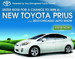 win a toyota prius toyota dealers to give away 2010 prius at chicago auto