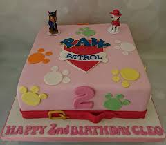girly pink paw patrol birthday cake cleo childrens tv