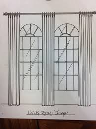 Curtains For Palladian Windows Decor Interior Window Treatments Arched Windows Curtains Half Interior