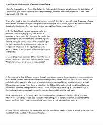 5 application hydrophobic effect and drug effica chegg com