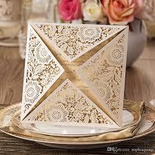 Black Wedding Invitations Personalized White Gold Black Wedding Invitation Card With Free