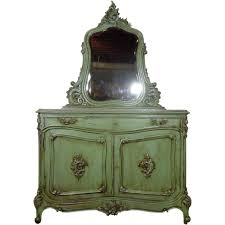19th century antique french louis xv rococo buffet vanity from