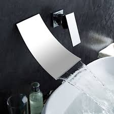 waterfall widespread contemporary bathroom sink faucet chrome