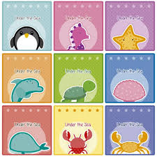 sea world cards vector free
