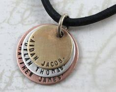 Necklaces With Children S Names For The Dad With 3 Children Necklace Personalized With 3