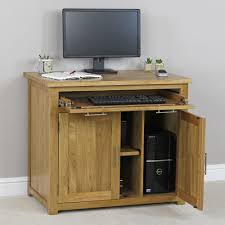 Small Oak Computer Desk Furniture Diy Hideaway Desk For Lovely Home Office Decoration