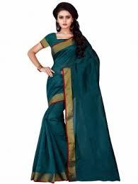 Buy Green Plain Cotton Silk Plain Sarees Buy Plain Saris Online For Women From Saree Com