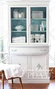 thrift store china cabinet makeover confessions of a serial do