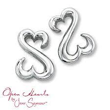 heart ear rings images Kay open heart earrings sterling silver jpg