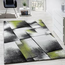 tappeto soggiorno tappeto di design a quadri soggiorno colori verde grigio nero