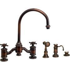 moen copper kitchen faucet antique copper kitchen faucets faucet 2 handle bridge with side