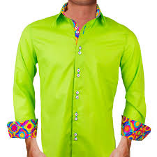 mens lime green dress shirts