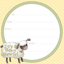 free sheep printables free printable baby shower invitation