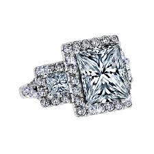 princess cut halo engagement ring 3 50 carat princess cut halo engagement ring