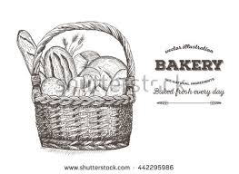 bakery hand drawing set vector sketches stock vector 211294408