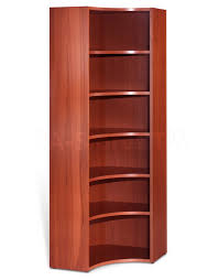Cherry Wood Corner Bookcase Interior Cherry Wood Curved Corner Bookcase With 7